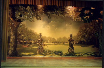 Stage set painted by Peter Seymour and commissioned by Prahran Council in 1993. It is located in the theatre at Stonnington Town Hall.